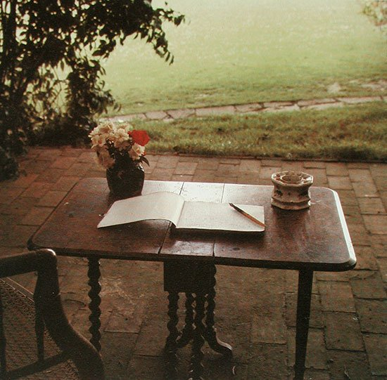 Woolf's working table, Sussex, 1965 by Gisèle Freund